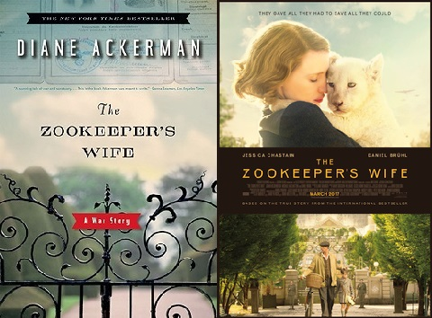 The Zookeeper's Wife by Diane Ackerman - Cover Art / Movie Poster