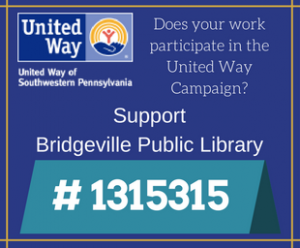 United Way Campaign Number is #1315315