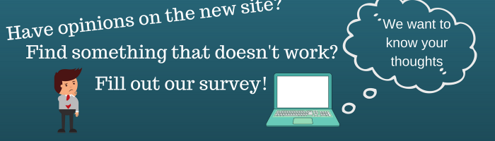 Take our survey and tell us what you think of the website