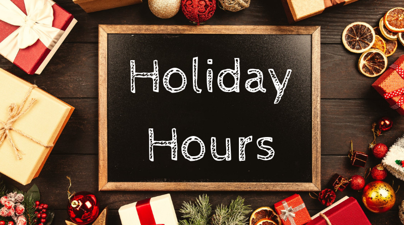 Library Holiday Hours