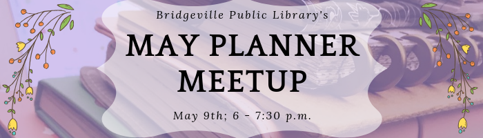 May 9th Planner Meetup