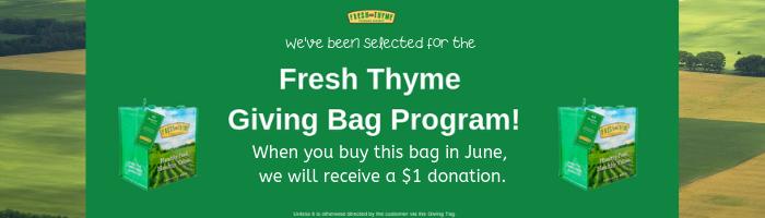 Fresh Thyme Giving Program