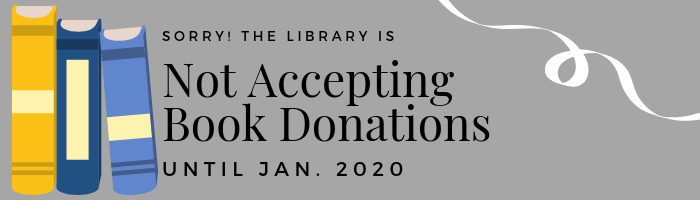 not accepting book donations