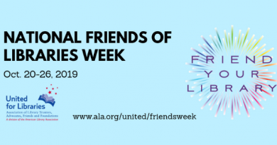 National Friends of the Library Week Header Image